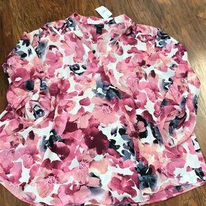 Rue + floral blouse
